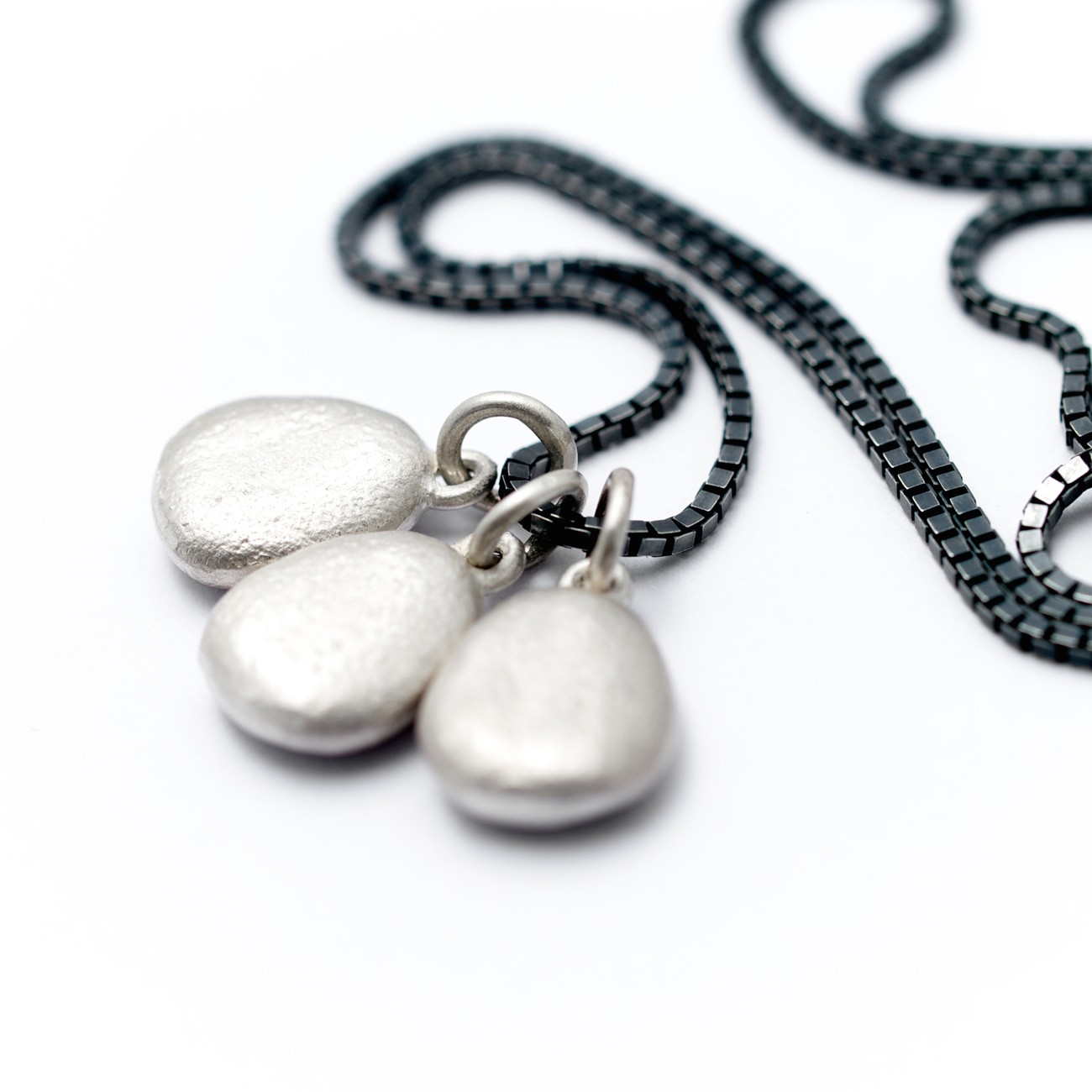 Personalised Silver Pebble necklace - Alice Robson ...
