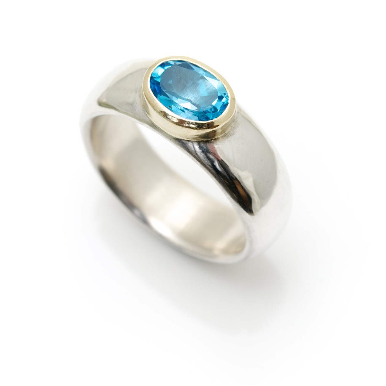wide silver ring with topaz robson jewelleryalice